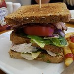 Club sandwich and chips