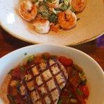 Tuna and shrimp