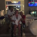 This is the bar next to the pool. And 2 of my new friends