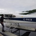 """The baby float plane at Flin Flon. I don't know how our 6'3"""" pilot fits."""