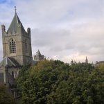 This is the view from our window of Christ Church Cathedral.