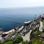 The view from the top of Minack Theatre