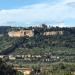 Orvieto view from pool area (zoom close up)