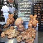 Specialty bread shapes at Boudin's