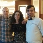 Ferhat was a very friendly and efficient waiter. Here he is with my daughter and son-in-law