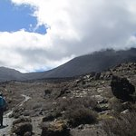Mt. Ruapehu shrouded in clouds