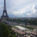 La Tour Eiffel vue depuis le dernier étage du musée