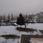 pool are also freeze due to snow falling of cappadocia turkey
