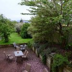 """View of Pleasant, Garden-like Patio from our """"Executive Suite"""" Room"""