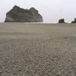 Wharariki Beach. Amazing rock formations.
