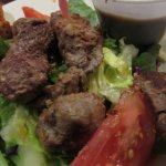 Half the Texas Tenderloin Salad ... UpClose ...