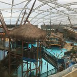 The view from the hotels bar overlooking the waterpark