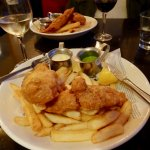 Fish and Chips with Pea Puree