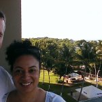 Us on our balcony