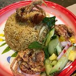 Soft shell crab fried rice, Busaba EaThai