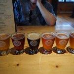 An order of 6 sampler beers.