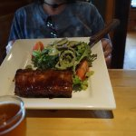 Ribs with salad