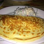 Crepe with cole slaw