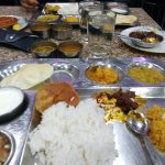 The standard Compulsory Thali (The little Mutton fry is not a part of it)