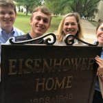 Stop at the historic Eisenhower Home and campus, Abeline.