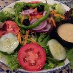 Garden salad, good!