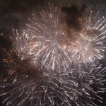 Lots of fireworks, super close up view