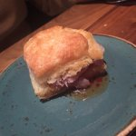 Biscuit with pepper jelly