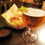 Draft Mexican Beer, Chips & Salsa - Sol Y Luna in LA (16/Aug/17).