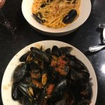 Our suppers...seafood pasta & mussels n' frits