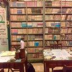 Book shelves set an interesting decor