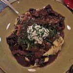 Beef stroganoff:  delicious!