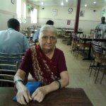 The ambiance in the back ground of senior citizen.