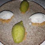basil/apple and coconut ice cream