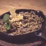 Falso risoto cremoso de setas y trufa.