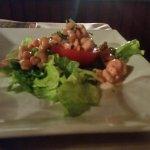 tomate aux crevettes entrée