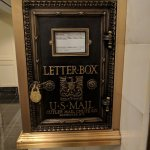 great old letterbox and mail chutes in the building are still working! A+