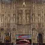 15th century screen High Altar with 19th century statues.