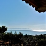 Gulf of Messenia and Taygetos Mountains from the villa veranda