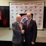 Bill Lewis of Fort Lauderdale attending the Volusia County Republican Party Lincoln Day Dinner i