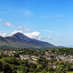Croagh Patrick in the distance.
