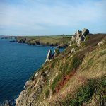 Lovers Rock, along the coastal path from the hotel towards Mullion Harbour
