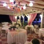 Taverna decorated ready for evenings entertainment