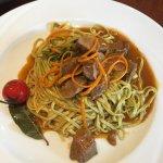 Spaghetti mit Filetstreifen