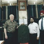 Here I am presenting, in 2011, a suit that Raja's made for me in 1971.