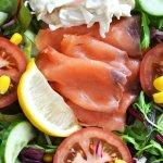 Smoked salmon salad