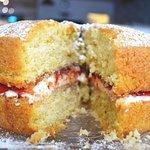 Homemade victoria sponge cake