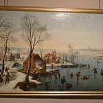 Skaters on the Ice, Jan Wildens. Palazzo Rosso