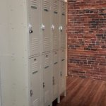 Lockers in the hallway