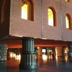 Muestra de las columnas del hall.