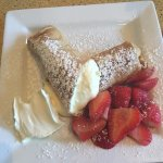 Cheese Blintz- Too much ricotta/cream filling, very rich, but DELICIOUS!